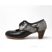 Carmela 39,5 AA+PR Leather Negro Clásico 5 Visto Atrás Serpiente 29