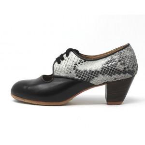 Carmela 37 A+PR Leather Negro Cubano 5 Visto Atrás Serpiente 30
