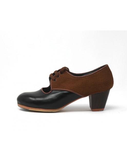 Carmela 35,5 AA+PR Leather Negro Cubano 5 Visto Atrás Serpentine 22