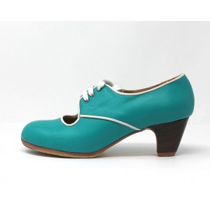 Carmela 39 AA Leather Teal Clásico 5 Visto R. Marfil