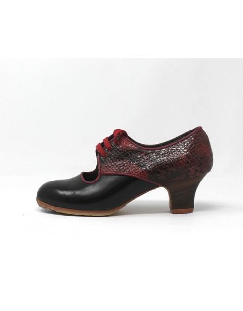 Carmela 34,5 A+PR Leather Negro Carrete 5 Visto Atrás Serpentine 27
