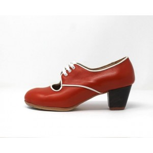 Carmela 36 A+PR Leather Naranja Cubano 5 Visto R. Blanco