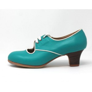 Carmela 39 AA+PR Leather Teal Carrete 5 Visto R. Marfil