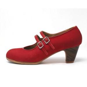 Manuela 38,5 AA+PR Nobuck Rojo Clásico 5 Visto Correas Leather Rojo Sangre