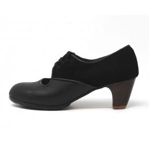 Carmela 40,5 A+PR Leather Negro Clásico 5 Visto Atrás Ante Negro