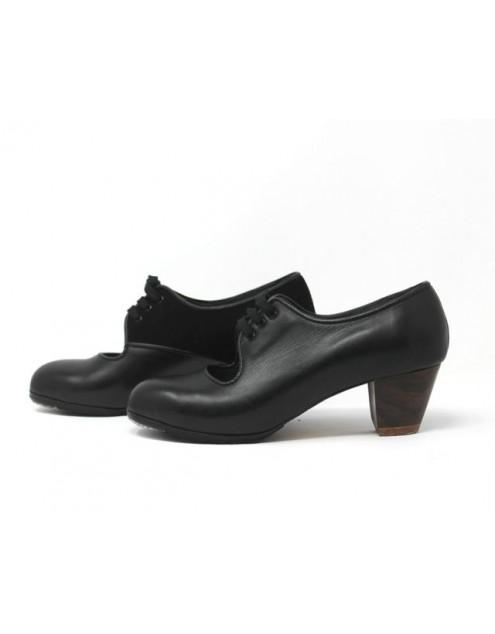 Carmen 37,5 A Leather Negro Cubano 5 Visto Interior Suede Negro