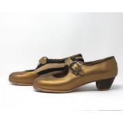 Lola 38,5 A Pearlized Leather Oro Cubano 3,5 Visto Interior Cebra R. Negro