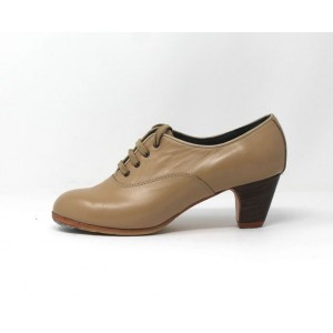Chapín Mujer 37,5 AA Leather Beige Clásico 5 Visto