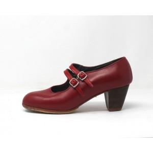 Manuela 37 A Leather Rojo Cubano 5 Visto Correas Leather Rojo Sangre