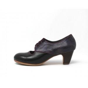 Carmela 40,5 AA+PR Leather Negro Clásico 5 Visto Atrás Serpiente 25