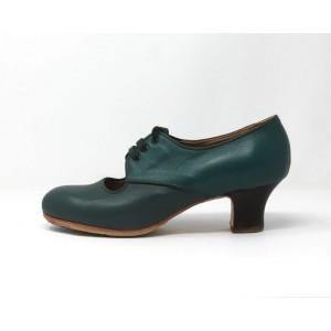 Carmela 40,5 AA Leather Verde Marino Carrete 5 Visto Atrás Leather Verde Marino Rugoso