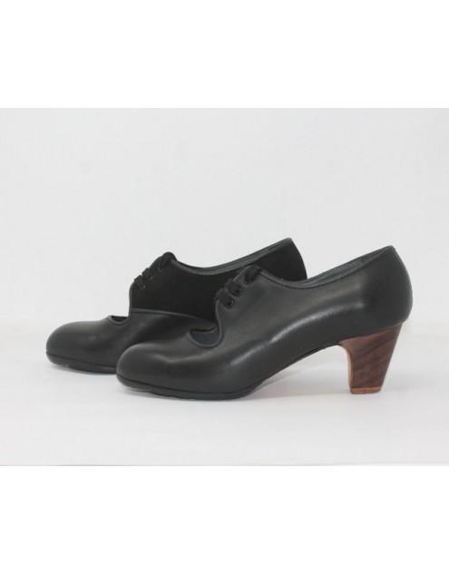 Carmen 37,5 A Leather Negro Clásico 5 Visto Interior Suede Negro