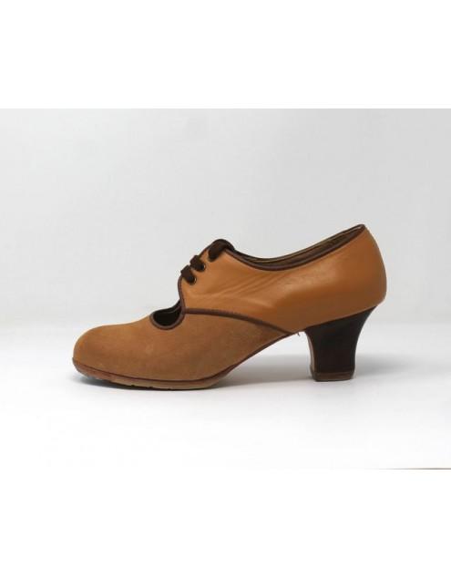 Carmela 36,5 A+PR Suede Beige Carrete 5 Visto Atrás Leather Carne R. Marrón