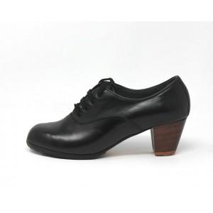 Chapín Mujer 40 A+PR Leather Negro Cubano 5 Visto