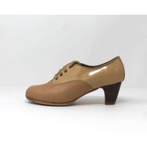 Chapín Mujer 37,5 AA Leather Beige Clásico 5 Visto Atrás Patent Leather Beige