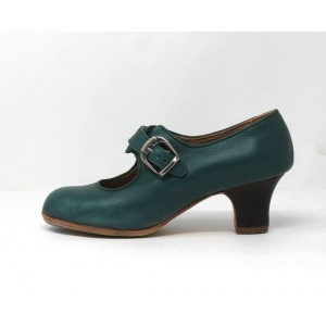 Lola 36,5 AA Leather Verde Marino Rugoso Carrete 5 Visto