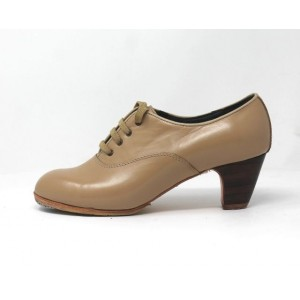 Chapín Mujer 38,5 AA Leather Beige Clásico 5 Visto