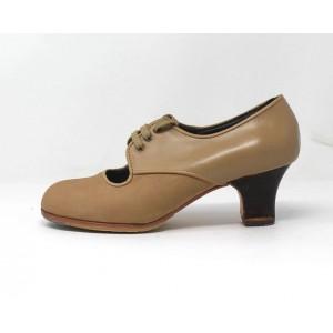 Carmela 36,5 A+PR Nobuck Beige Carrete 5 Visto Atrás Leather Beige