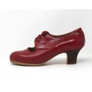 Carmela 38,5 A Leather Rojo Carrete 5 Visto Atrás Coco Rojo Oscuro