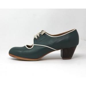 Carmela 40,5 A Leather Verde Marino Cubano 5 Visto R. Blanco