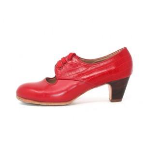 Carmela 40,5 A+PR Leather Rojo Sangre Clásico 5 Visto Atrás Coco Rojo