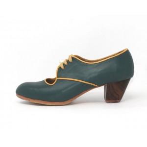 Carmela 40,5 A Leather Verde Marino Cubano 5 Visto R. Amarillo