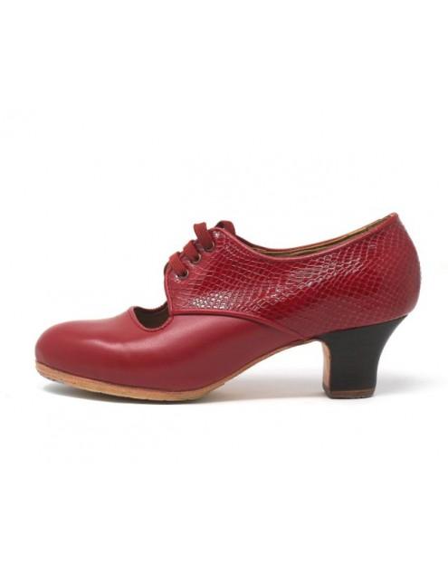 Carmela 37 A Leather Rojo Carrete 5 Visto Atrás Serpiente Rojo