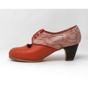 Carmela 37,5 A Leather Naranja Clásico 5 Visto Atrás Serpiente 19