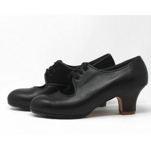 Carmen 37,5 A Leather Negro Carrete 5 Visto Interior Suede Negro