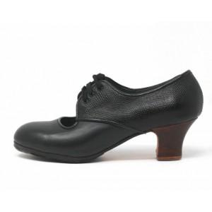 Carmela 38 A+PR Leather Negro Carrete 5 Visto Atrás Serpiente Negro