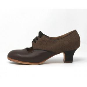 Carmela 40,5 AA+PR Leather Marrón Oscuro Carrete 5 Visto Atrás Grabado Visón