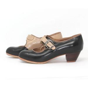 Lola 38,5 E Leather Negro Cubano 3,5 Visto Interior y Correas Leather Congo R. Congo