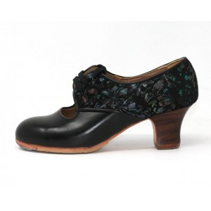Carmela 36,5 AA+PR Leather Negro Carrete 5 Visto Atrás Negro Primavera