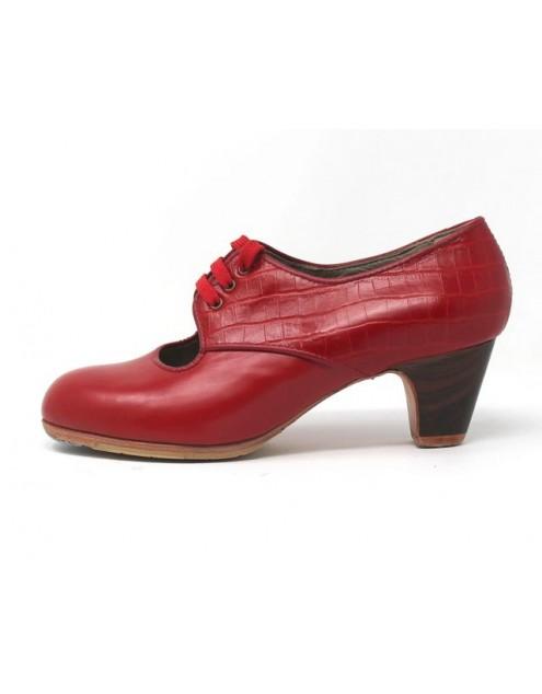Carmela 36,5 AA+PR Leather Rojo Sangre Clásico 5 Visto Atrás Coco Rojo