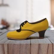 Carmela 35 A+PR Leather Plátano Carrete 5 Visto R. Negro