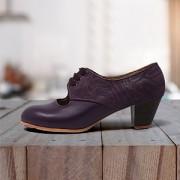 Carmela 39,5 A+PR Leather Morado Cubano 5 Visto Atrás Fantasia Morado
