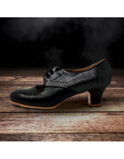 Carmela 40,5 A+PR Leather Negro Carrete 5 Visto Atrás Fantasía