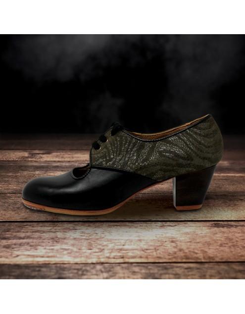 Carmela 37,5 A+PR Leather Negro Cubano 5 Visto Atrás Charlott Oliva