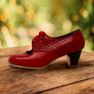 Carmela 35 A Leather Rojo Sangre Clásico 5 Visto Atrás Fantasía Rojo