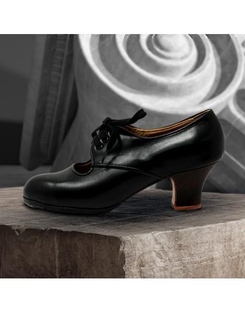 Carmela 36,5 A Leather Negro Carrete 5 Visto