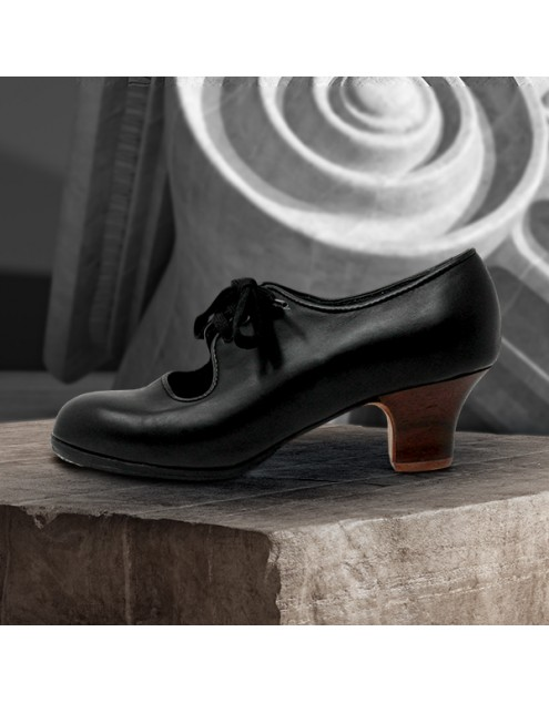 Carmen 39,5 AA+PR Leather Negro Carrete 5 Visto
