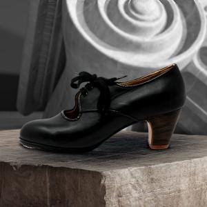 Carmela 39 AA Leather Negro Clásico 5 Visto