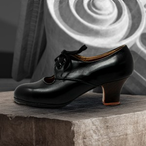 Carmela 39 AA Leather Negro Carrete 5 Visto