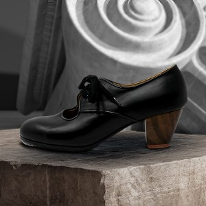 Carmela 39,5 AA Leather Negro Cubano 5 Visto