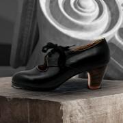 Carmela 39 AA+PR Leather Negro Clásico 5 Visto