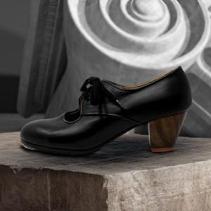 Carmela 39 AA+PR Leather Negro Cubano 5 Visto
