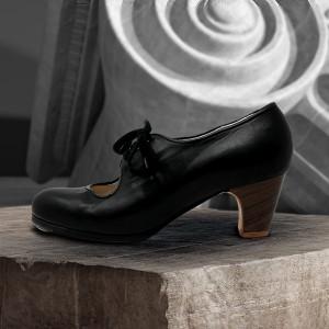 Carmen 39,5 AA Leather Negro Clásico 5 Visto