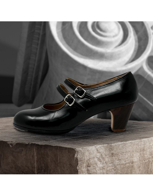 Manuela 40 AA+PR Leather Negro Clásico 5 Visto
