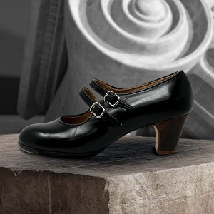 Manuela 38,5 AA Leather Negro Clásico 5 Visto