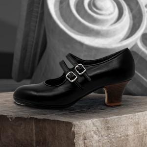 Manuela 38 AA+PR Leather Negro Carrete 5 Visto
